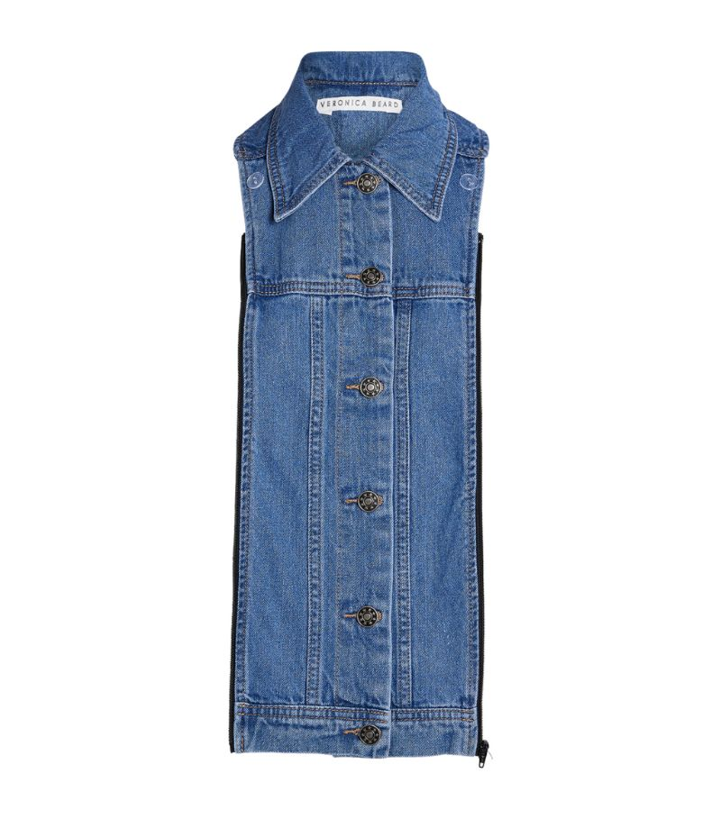 Veronica Beard Slate Denim Jacket Dickey
