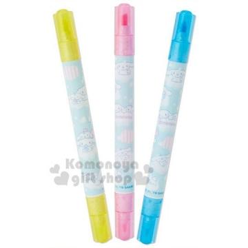 〔小禮堂〕大耳狗 日製雙頭螢光筆組《3入.標示筆.彩色筆.記號筆》