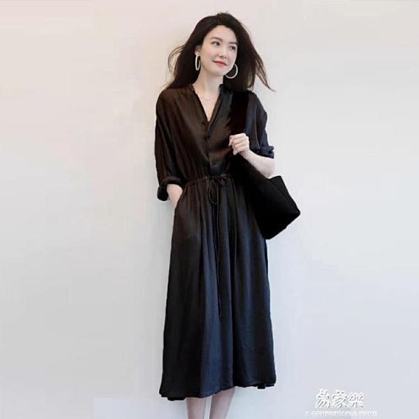 清純秋季洋裝 夏2020新款大碼女裝胖mm洋裝子長裙顯瘦顯高氣質減齡遮肉早秋季 交換禮物