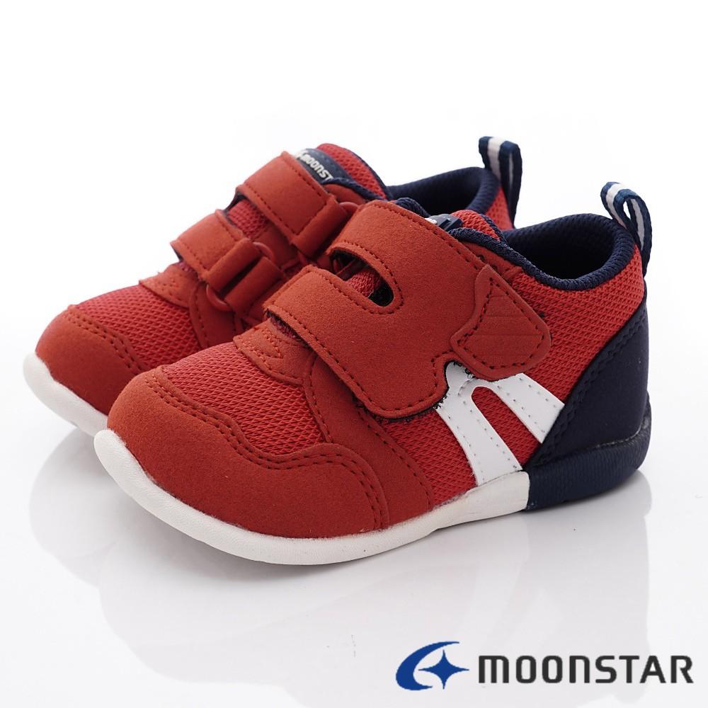 日本月星Moonstar機能童鞋 HI系列 3E穩定款 1111暗紅(寶寶段)