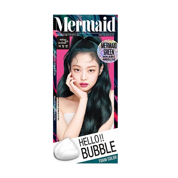 HELLO BUBBLE泡沫染髮劑4GN夜幕綠【寶雅】