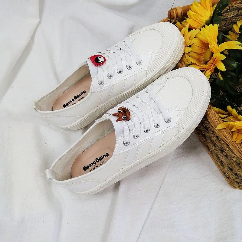 春裝穿搭 │隱藏鬆緊帶厚底休閒鞋-小白鞋 小紅帽與大野狼女鞋
