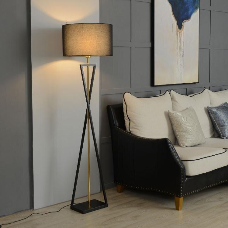 客廳落地燈簡約現代立燈臥室北歐輕奢極簡沙發邊高檔ins風高臺燈 母親節新品