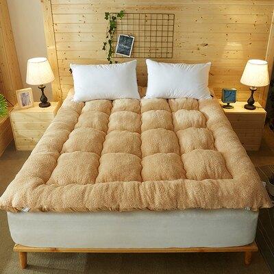 單人床墊 褥子床墊墊子床褥三秒速熱羊羔絨軟墊加厚保暖1.5m1.8m床2米雙人 全館限時8.5折特惠!