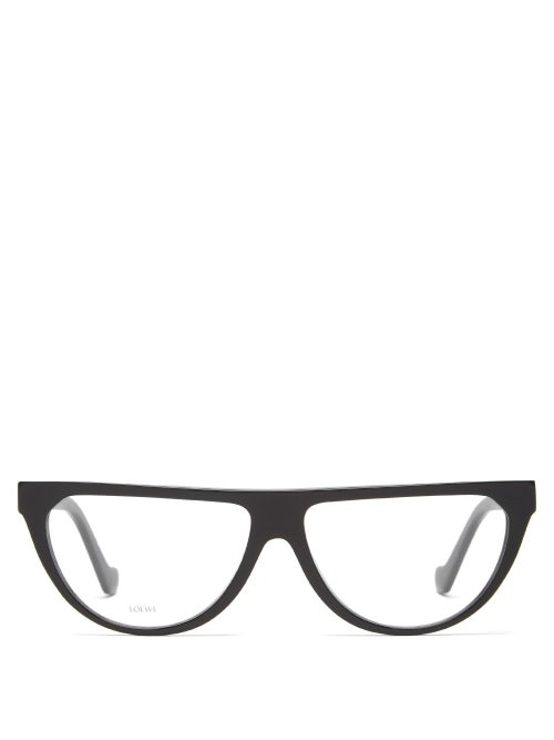 Loewe - D-frame Acetate Glasses - Womens - Black