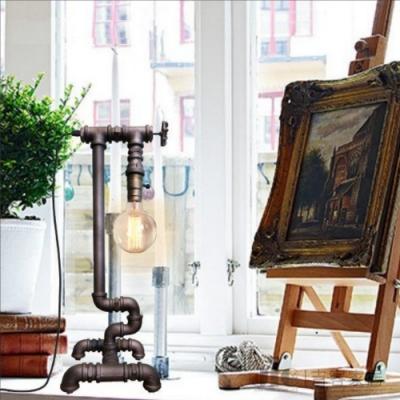 H&R安室家  工業風復古水管高版桌燈 檯燈