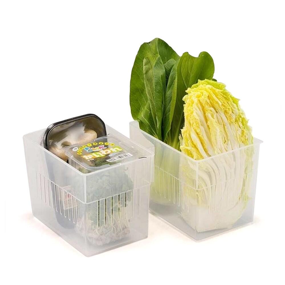 日本製造inomata冰箱冷藏大方型收納籃3入裝