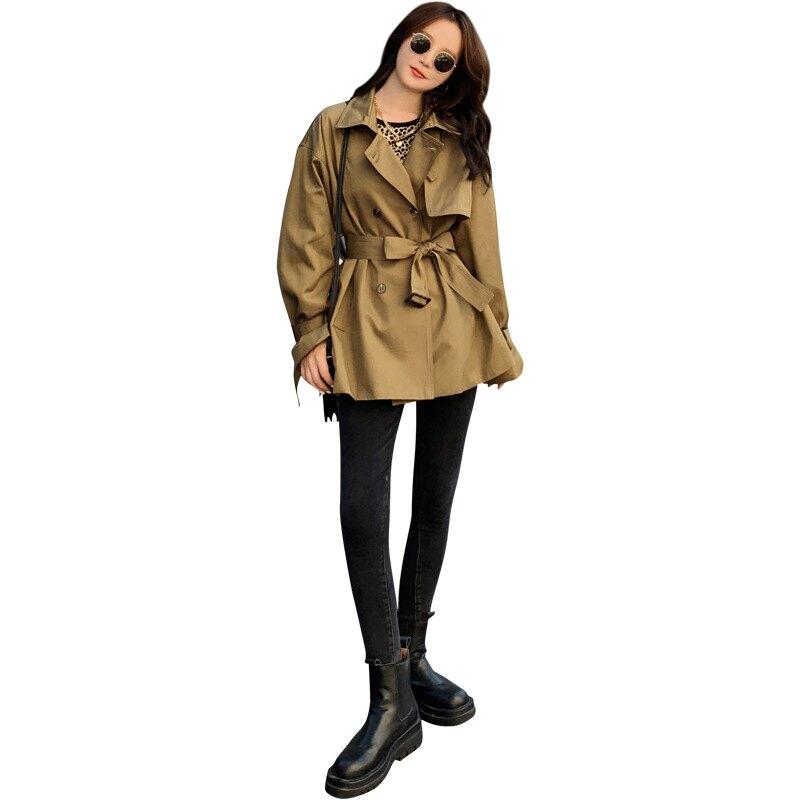 風衣大衣短版外套-OVERSIZE舒適休閒女外套73yt53【獨家進口】【米蘭精品】