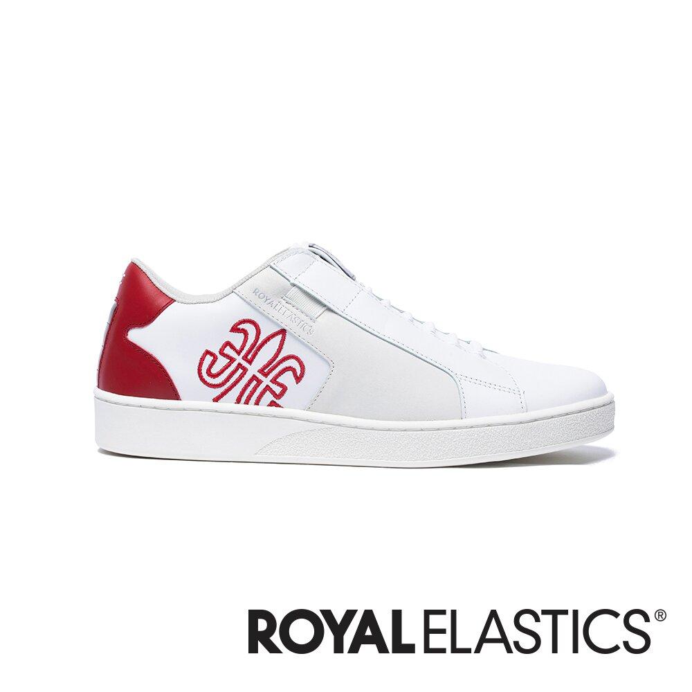 Royal Elastics Adelaide 白紅真皮時尚休閒鞋 (女) 92694-001