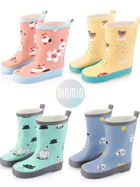 兒童雨鞋 防滑男童女童雨鞋橡膠卡通小孩雨靴中筒學生寶寶四季水鞋 全館八五折
