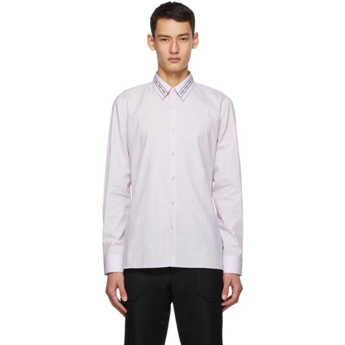 Fendi 粉色刺绣衣领衬衫