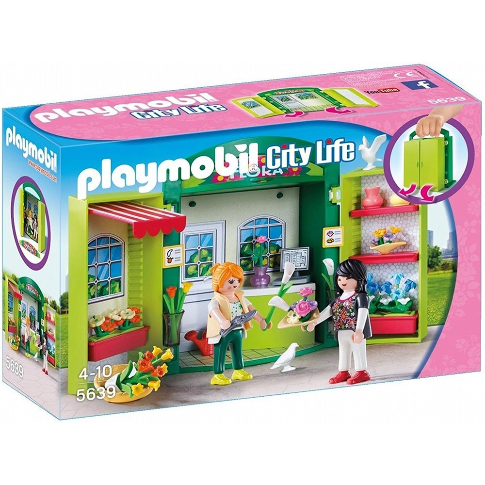 playmobil 提盒 花店