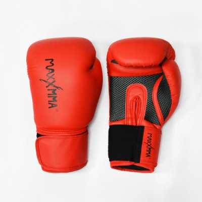 MaxxMMA 戰鬥款拳擊手套-紅-散打/搏擊/MMA/格鬥/拳擊