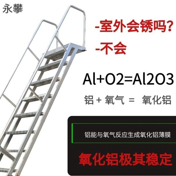 消防梯 定制鋁合金室外樓梯閣樓樓梯消防戶外安全樓梯爬梯家用登高梯全館促銷限時折扣