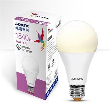 ADATA 威剛16W節能標章LED球泡燈-黃光(AL-BUA25C3-16W30C)