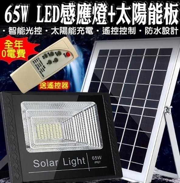 27119-256-柚柚的店【65W感應燈LED+太陽能板】智能光控防水 光控感應