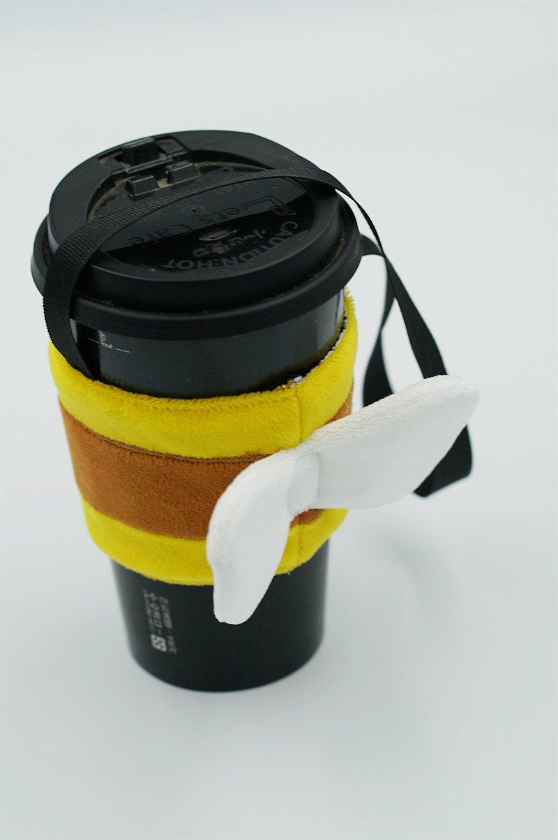 bucute小蜜蜂環保飲料提袋/飲料杯套/環保杯套/提袋