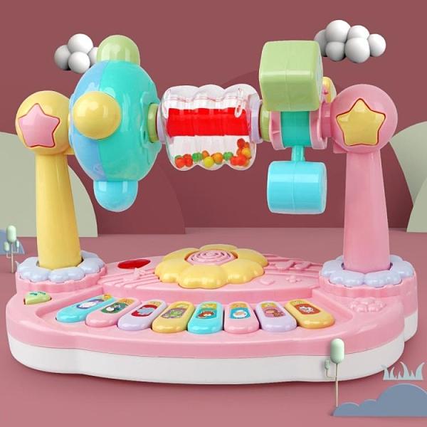 電子琴 兒童多功能花朵旋轉動物音樂琴 嬰幼兒樂園玩具琴音樂鋼琴電子琴 DF