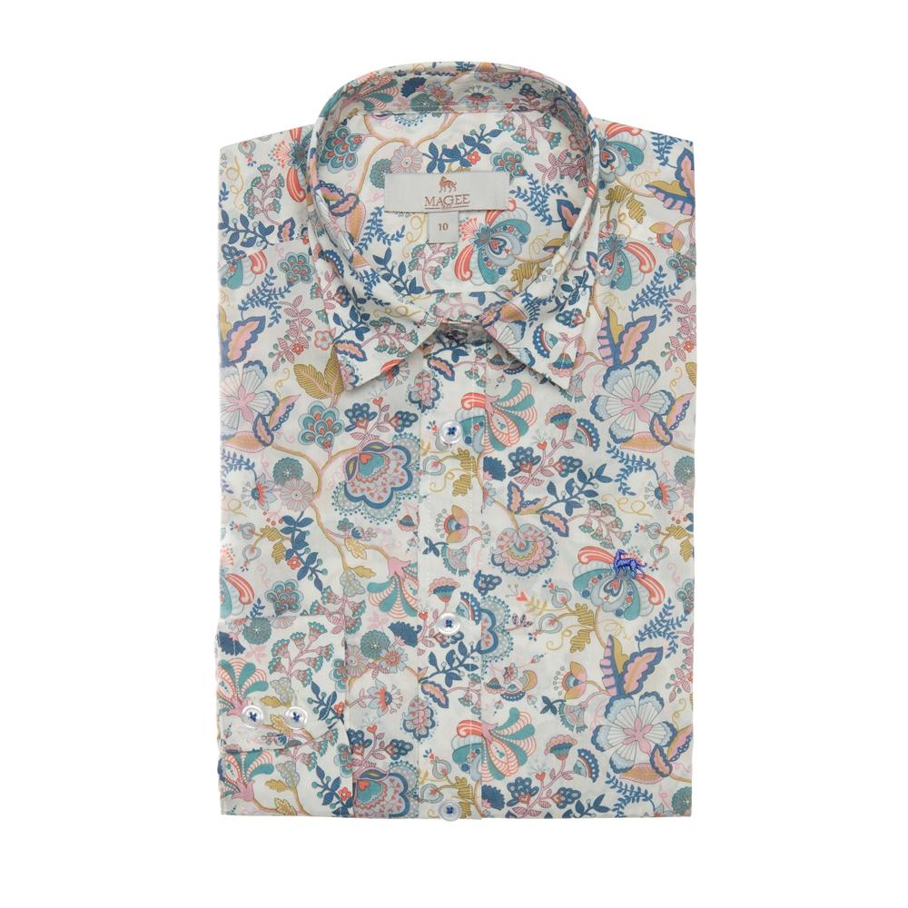 Magee 1866 Multicoloured Hannah Liberty Print Classic Fit Shirt