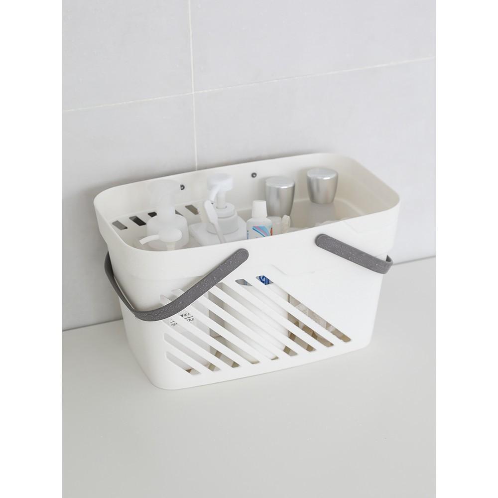 鏤空塑料手提沐浴籃 浴室洗漱收納籃 瀝水手提洗澡籃子 學生浴筐 -
