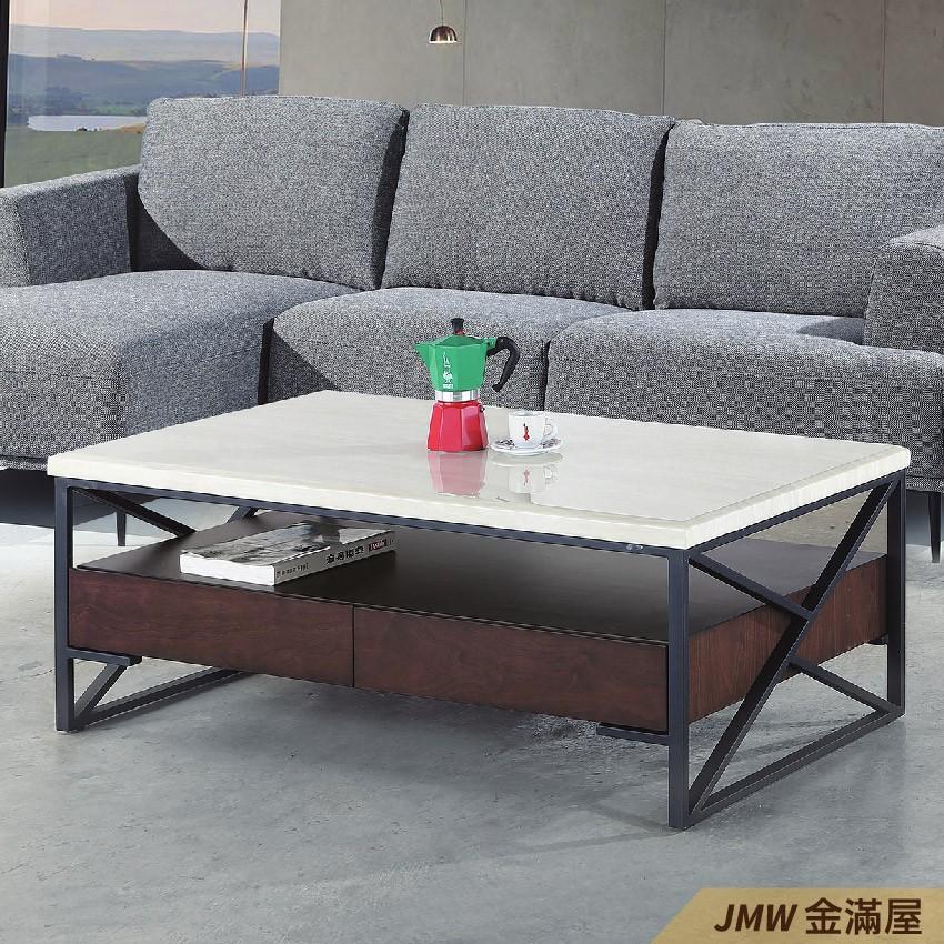 寬130cm客廳茶几組 北歐工業風桌金滿屋實木原木玻璃 大理石長方桌 大小邊几 圓桌 g638-