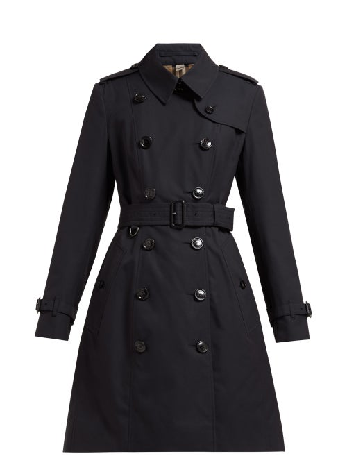 Burberry - Chelsea Cotton-gabardine Trench Coat - Womens - Navy