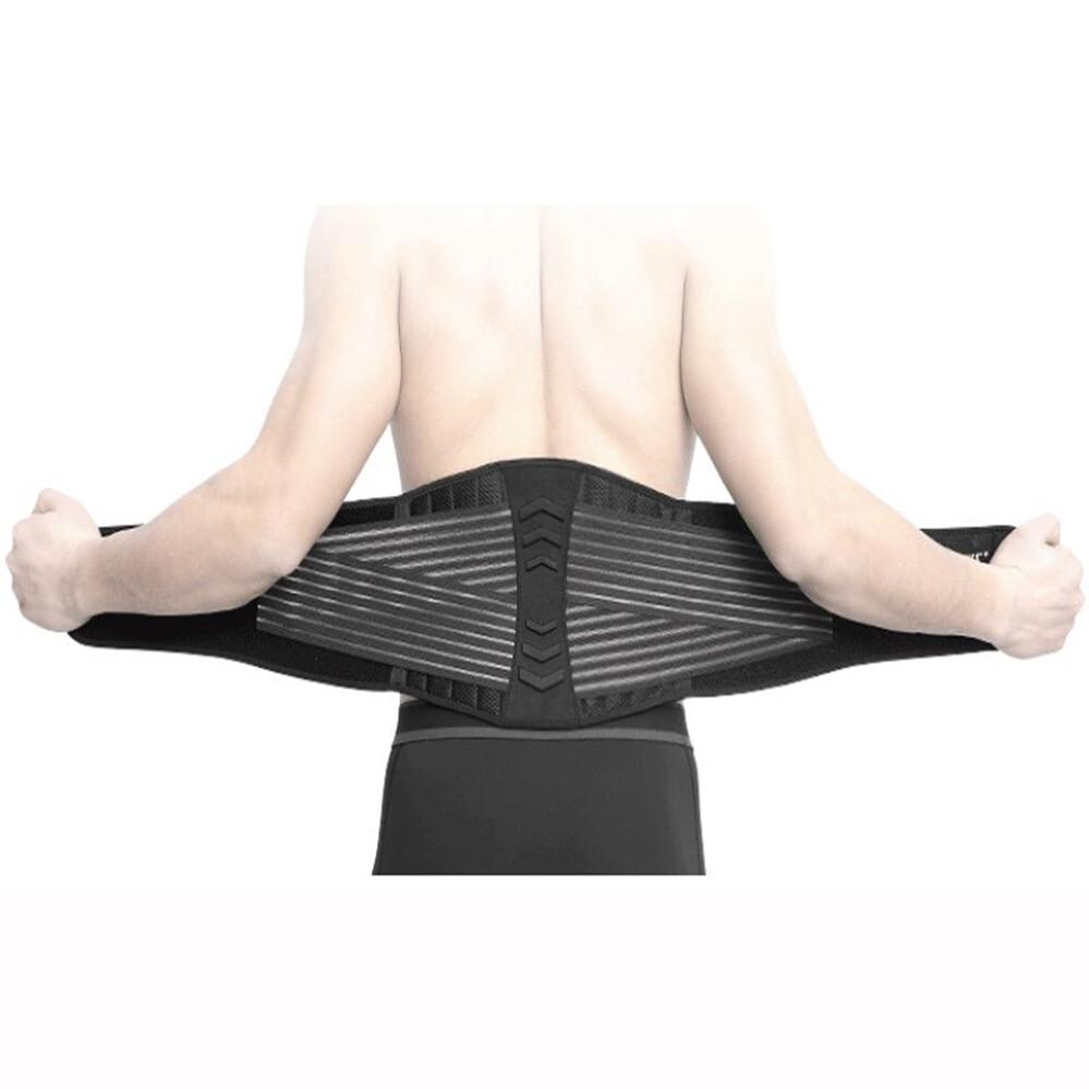 aolikes 八根彈簧高透氣加壓運動護腰帶