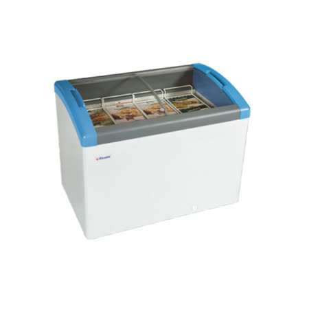 丹麥Elcold 冷凍櫃 圓弧形展示冰櫃 193L【3.5尺 冰櫃】型號:FOCUS-106