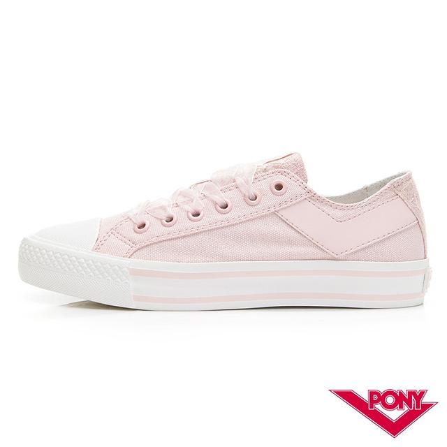 【PONY】Shooter系列帆布鞋-女款-粉紅色
