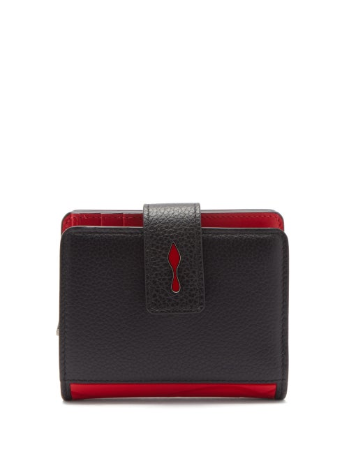 Christian Louboutin - Paloma Logo-plaque Leather Wallet - Womens - Black Red