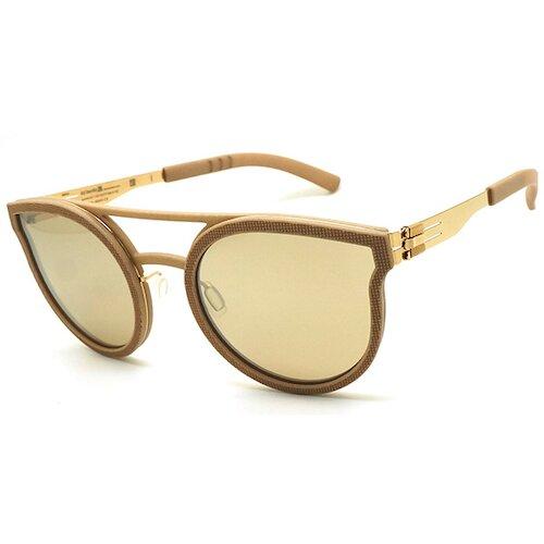 【ic! berlin】德國薄鋼墨鏡太陽眼鏡 utopia rose gold powdered-beige 無螺絲專利設計 53mm