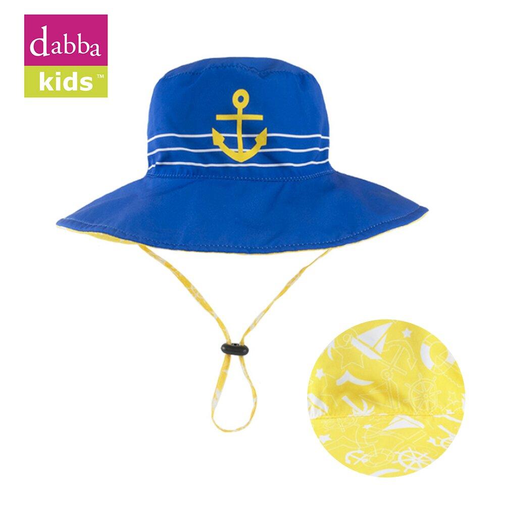 【DabbaKids】瓦拉幼童防曬雙面帽 UPF50+ 海島假期