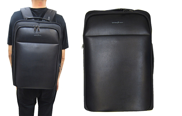 ~雪黛屋~SKYBOW 後背包大容量14吋電腦可A4夾二層主袋+外袋共六層固定桿防水BSD1020101800