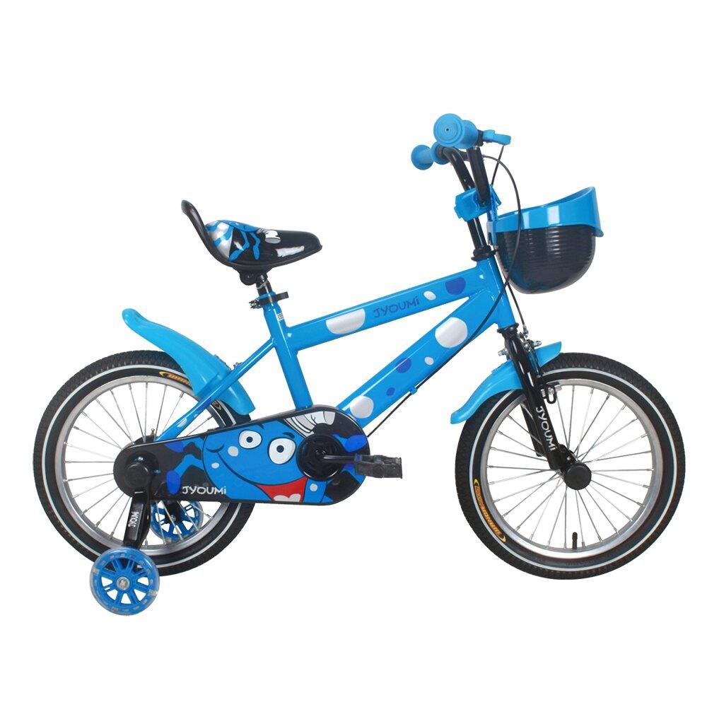 寶貝樂嚴選 16吋小精靈兒童腳踏車輔助輪三輪車-藍(BTSX1606B)