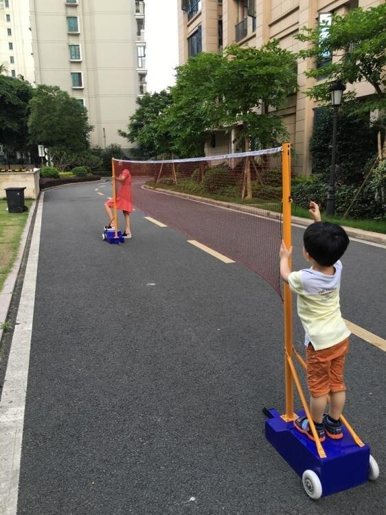 羽毛球網架 羽毛球網架網柱 便攜式標準移動式比賽升降羽毛球柱氣排球網架柱【免運】交換禮物