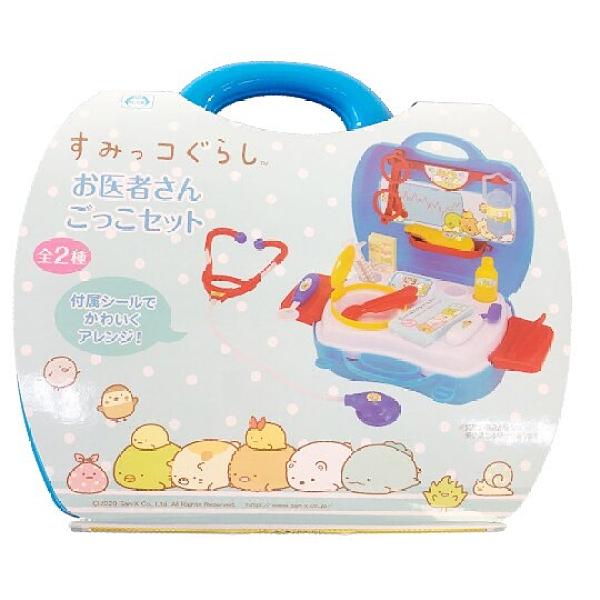 小禮堂 角落生物 醫生玩具組 附手提盒  聽診器玩具 扮家家酒 (藍) 5983164-11118