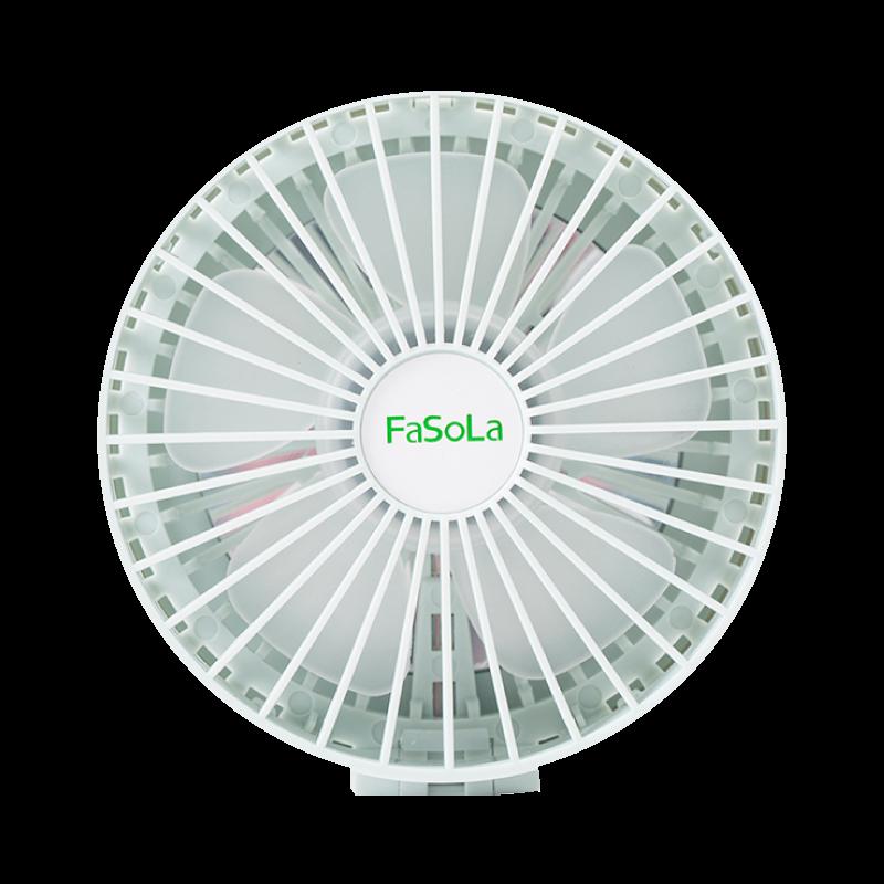 【輕盈好攜帶】折疊風扇鏡 隨身電扇 風扇 補妝鏡 隨身鏡-綠/白【AAA6469】