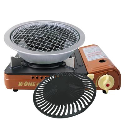 卡旺攜帶式卡式爐001D+兩用燒烤盤(中秋特惠)
