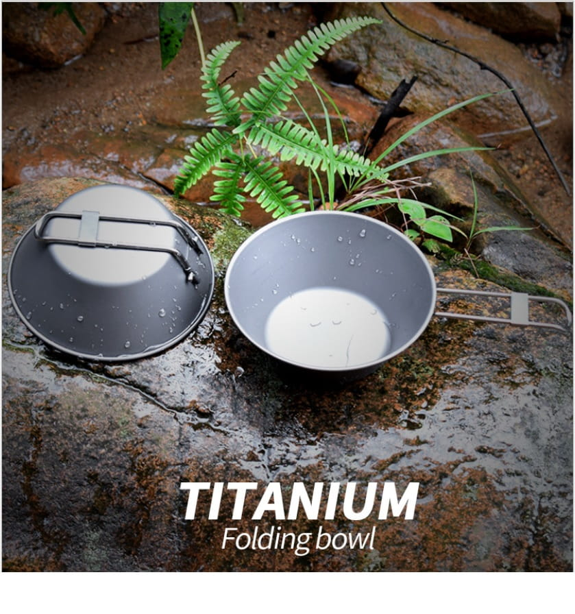 純鈦輕便折疊碗 露營碗 野餐餐具300ml