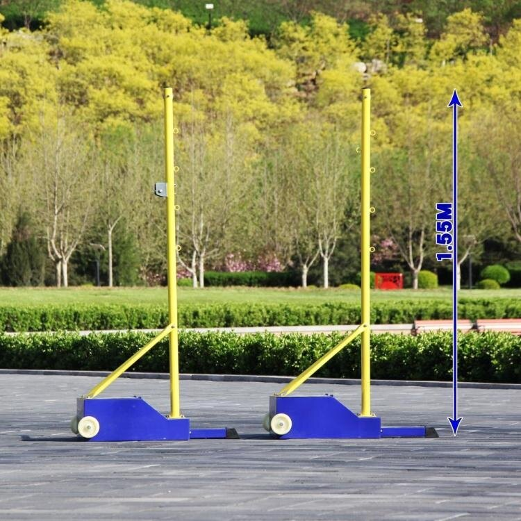 羽毛球網架 羽毛球網架便攜式 標準羽毛球網柱移動式 氣排球網架排球柱比賽【免運】交換禮物