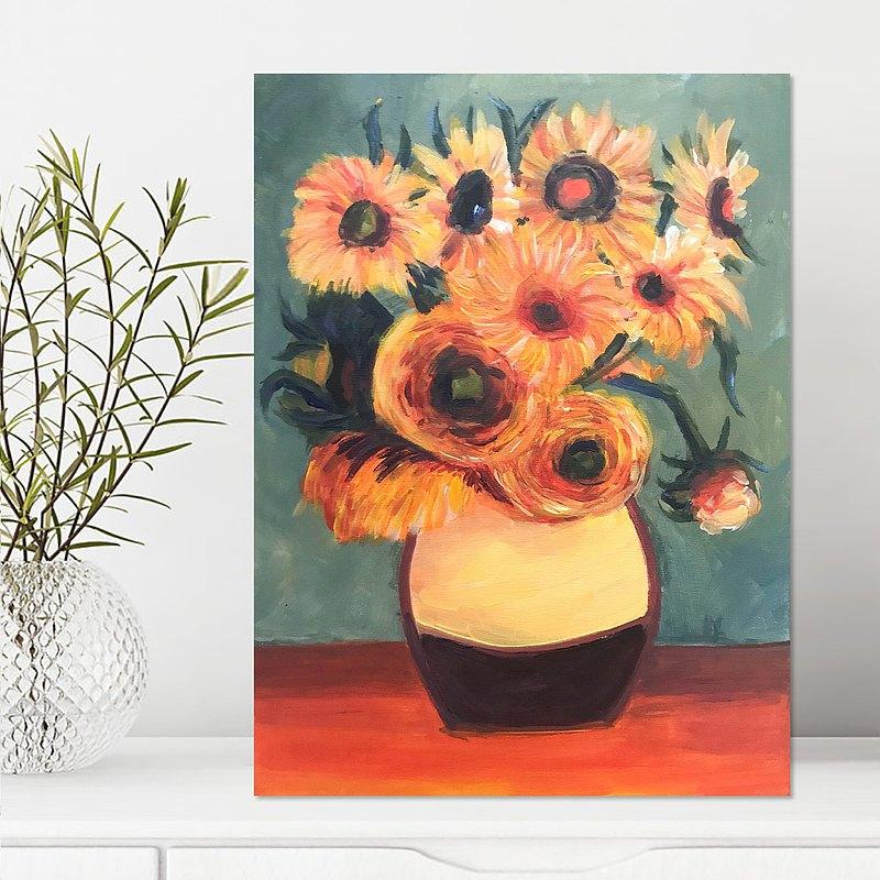 梵高 太陽花畫班 Van Gogh Sunflowers Painting Class