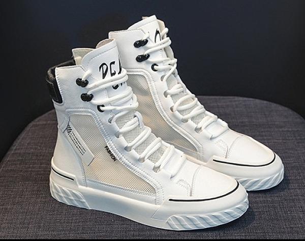 馬丁靴女鞋新款靴子夏季薄款百搭短靴夏天透氣網紗春秋季高幫