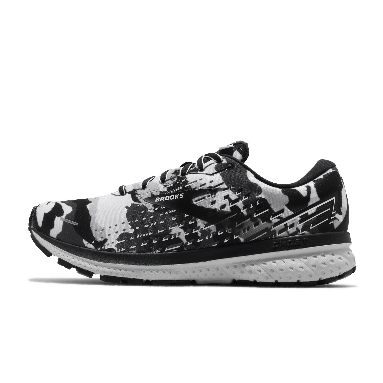 Brooks 慢跑鞋 Ghost 13 男鞋 迷彩限定款 黑 灰 白 高緩衝 馬拉松【ACS】 1103481D-156
