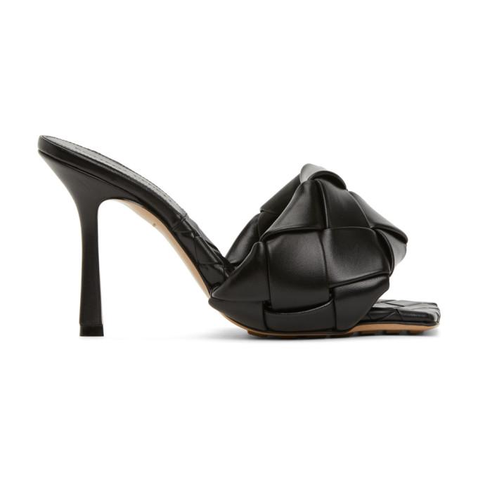Bottega Veneta 黑色 Lido Intrecciato 高跟凉鞋