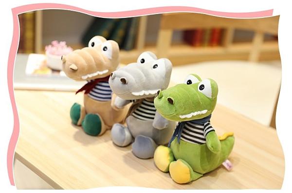 【30公分】可愛鱷魚先生玩偶 紳士抱枕 娃娃 聖誕節交換禮物 生日禮物 兒童節