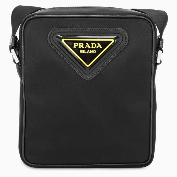 Prada Saffiano and nylon cross-body bag