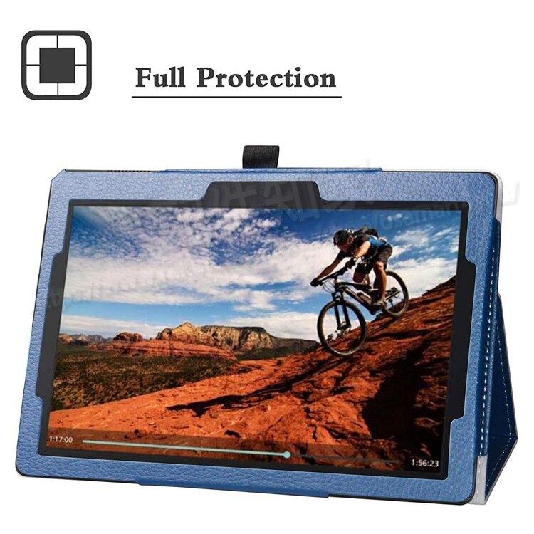 【贈保護貼】聯想 Lenovo Tab E10 10.1吋 TB-X104 荔枝紋側掀皮套/書本式翻頁/保護套/支架斜立-ZW