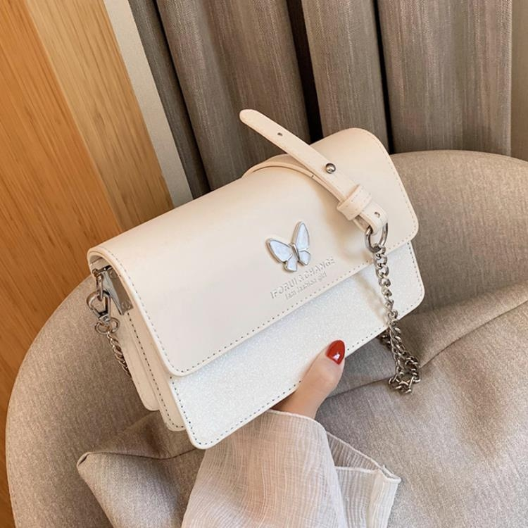 夏季時尚小包包2020新款潮亮片鏈條單肩斜挎包女包百搭ins小方包『新佰數位屋』