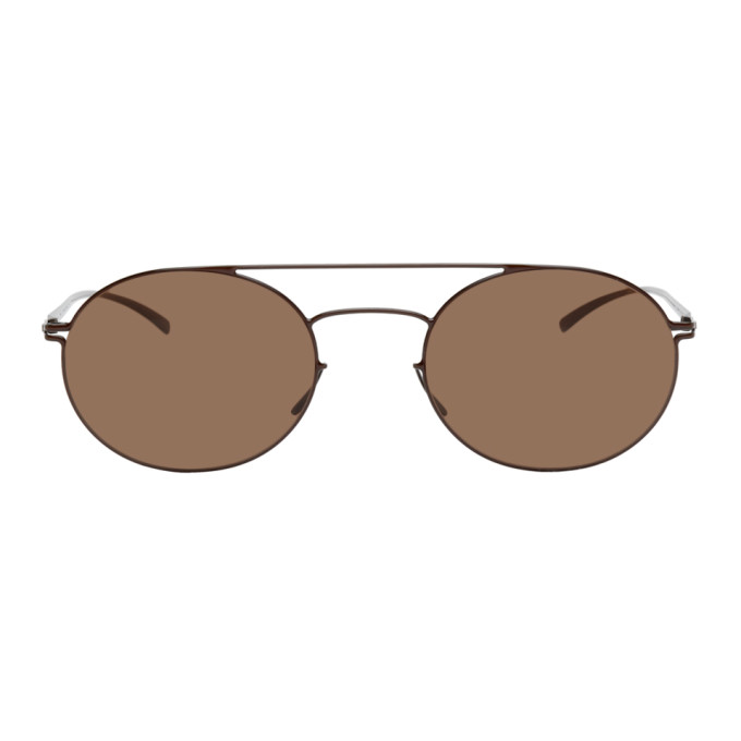 Maison Margiela 棕色 Mykita 联名 MMESSE019 圆框太阳镜