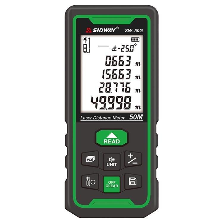 測距儀 深達威綠光測距儀激光量房儀高精度電子尺室內戶外手持距離測量儀